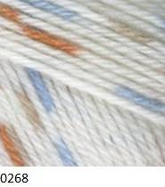 0268 krémová / modro-hnedá