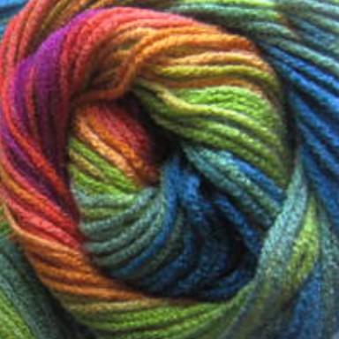 3514 oranžovo-fuksiovo-zeleno-modrá