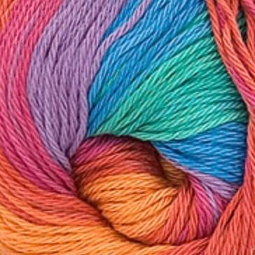 4516 oranžovo-tyrkysovo-zeleno-fialová