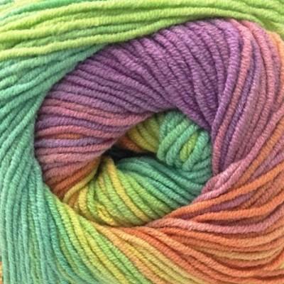 3304 žlto-oranžovo-zeleno-fialová