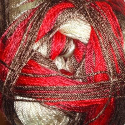 4574 prírodno-hnedo-červená