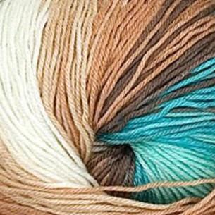 4603 krémovo-hnedo-tyrkysová