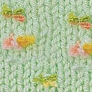 5411 zelená / mix farebných kvietkov