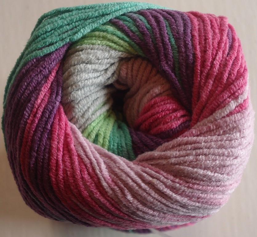 4147 ružovo-fialovo-zelená