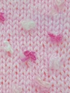 5517 ružová / bielo-ružové kvietky