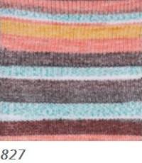 827 ružovo-modro-hnedá