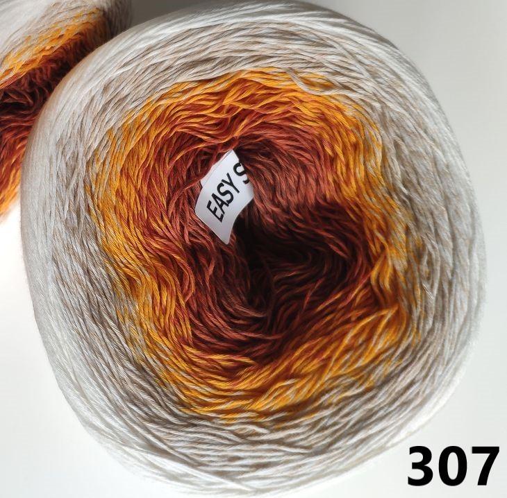 307 bielo-béžovo-oranžovo-škoricová