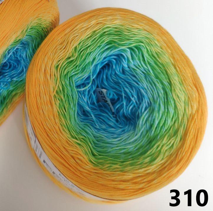 310 žlto-zeleno-tyrkysová