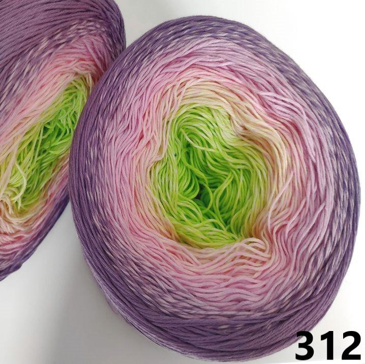 312 fialovo-ružovo-zelená
