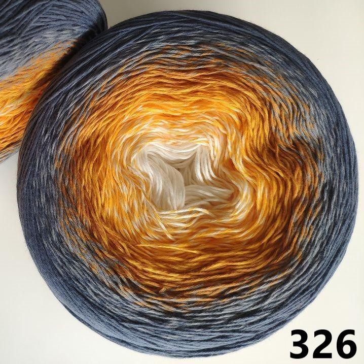 326 sivo-oranžovo-krémová