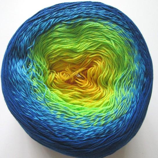 320 modro-zeleno-žltá
