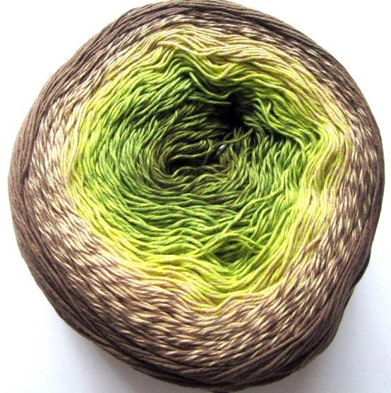 322 hnedo-smotanovo-zelená