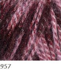 957 ružovo-bordová