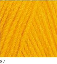 32 žltá tmavá