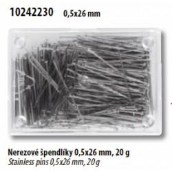 Špendlíky nerezové 0,53 x 26mm - Galant