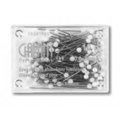 Špendlíky so sklenou hlavičkou B 0,6 x 30mm - 10g  Galant